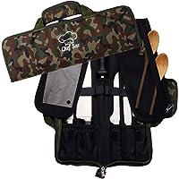 Chef Knife Bag Roll Bag Case | 8 Pockets for Knives & Kitchen Utensils | 2 Protective Flaps with Butcher Knife Pocket…