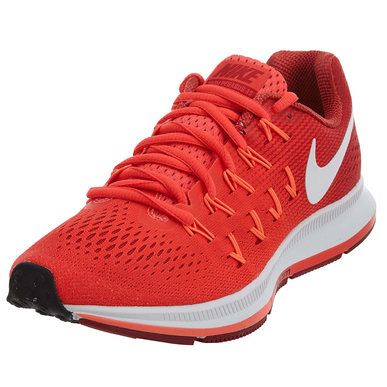 NIKE Women's Air Zoom Pegasus 33 B01I2JWV1G 5 B(M) US|Bright Crimson/Gym Red/Bright Mango/White