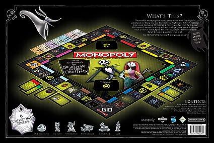 Monopoly Disney Pesadilla Antes de Navidad (2019 Ed.) Juego de Mesa | Colección Monopoly Tim Burton Nightmare Before ...