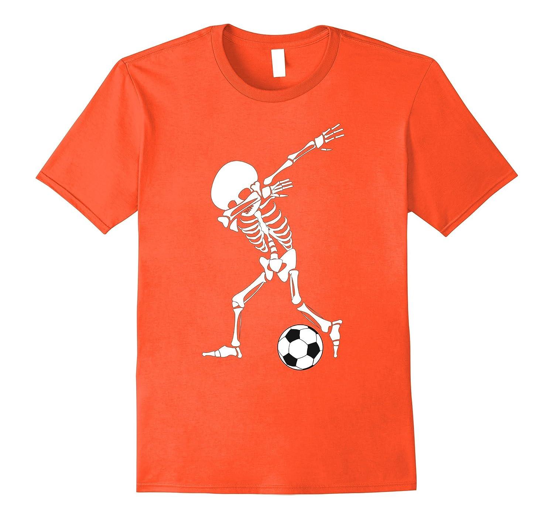 b0a1581d Dabbing Skeleton Soccer Shirt - Funny Halloween Dab T-Shirt-ah my shirt one