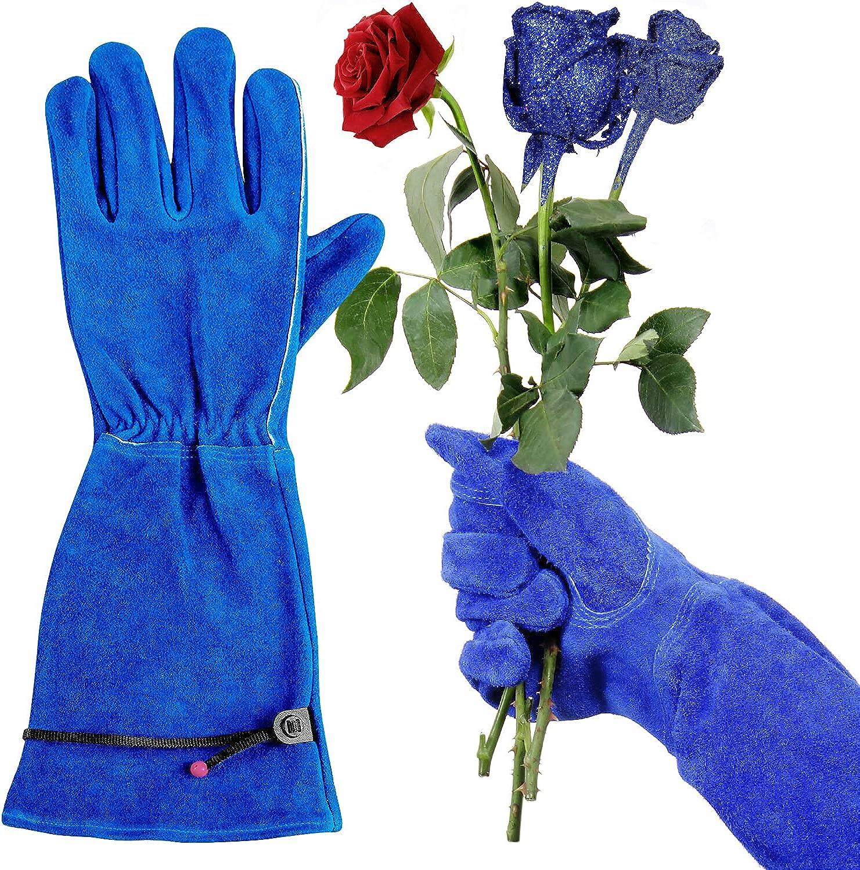 Ladies Rose Pruning Gloves, Long Thorn Proof Gauntlet Garden Gloves for Women