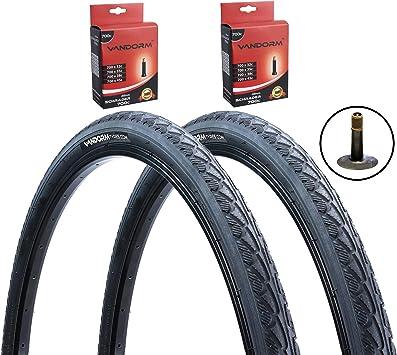 Neumáticos Vandorm Express 700 x 45c (PAR) y tubos Schrader ...