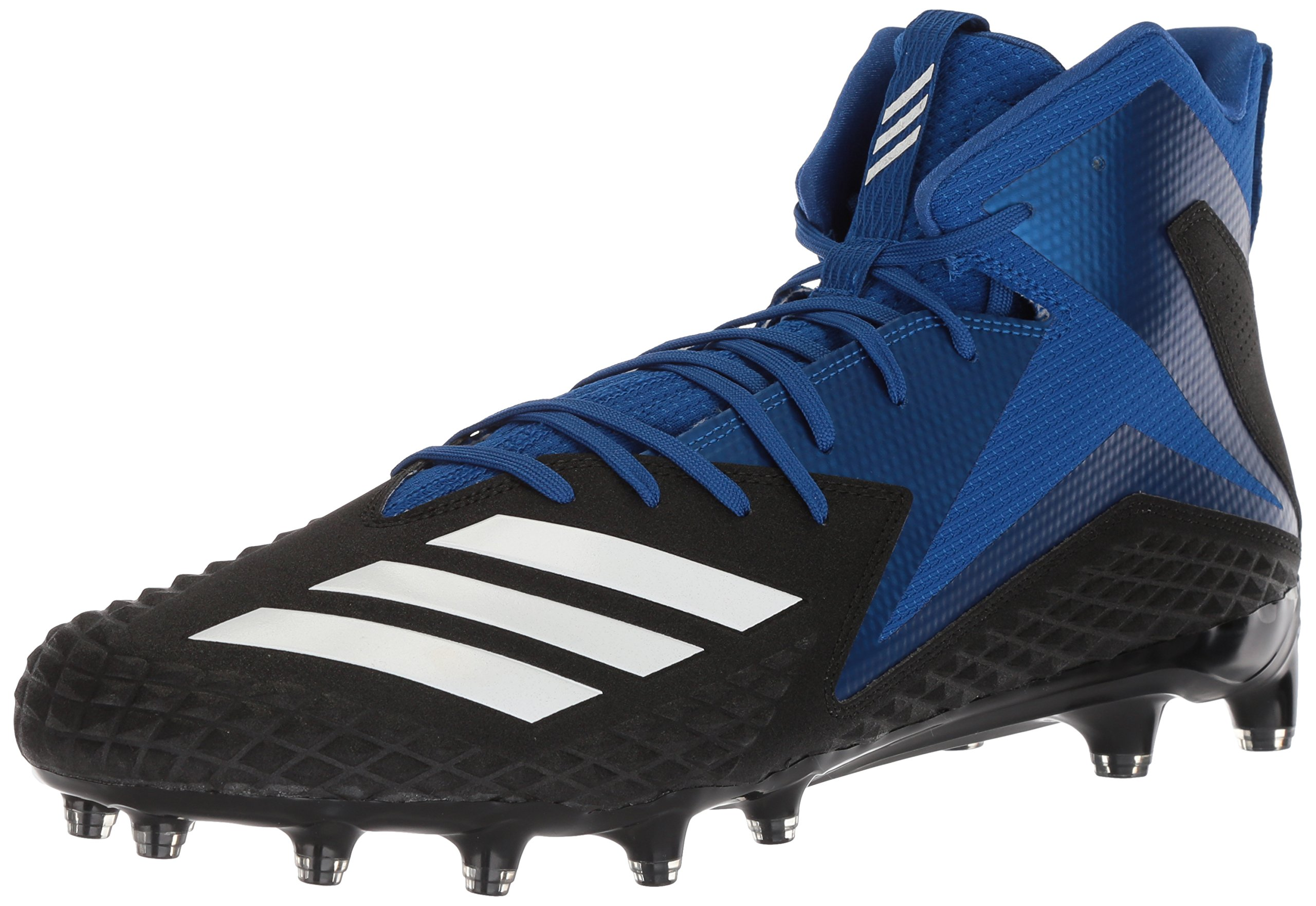 adidas Men's Freak X Carbon Mid Football Shoe, Black/White/Collegiate Royal, 11 M US
