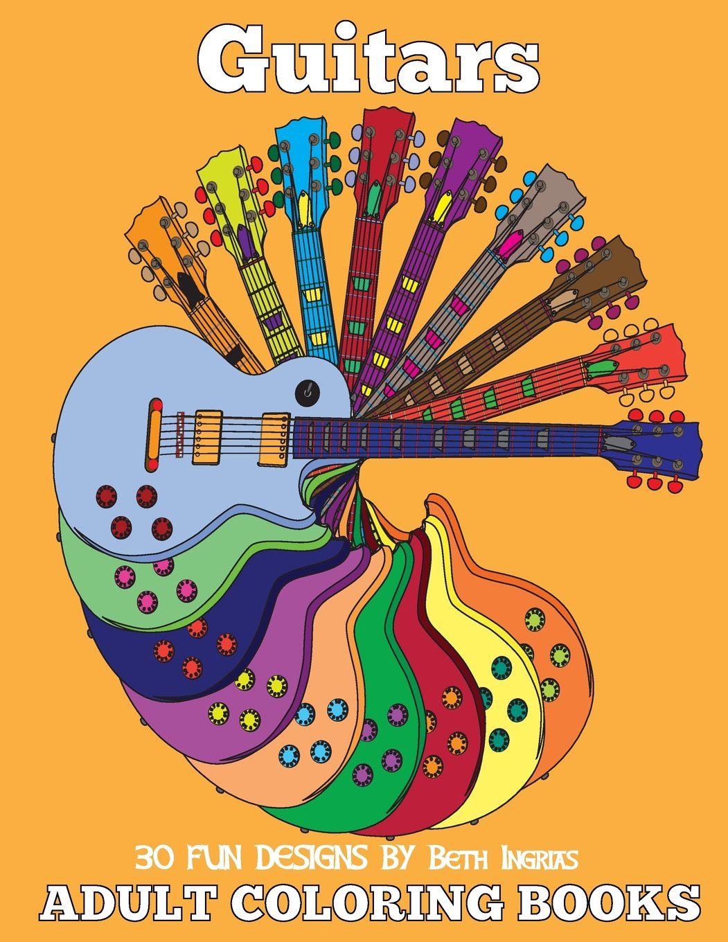 Adult Coloring Books Guitars 19 product image