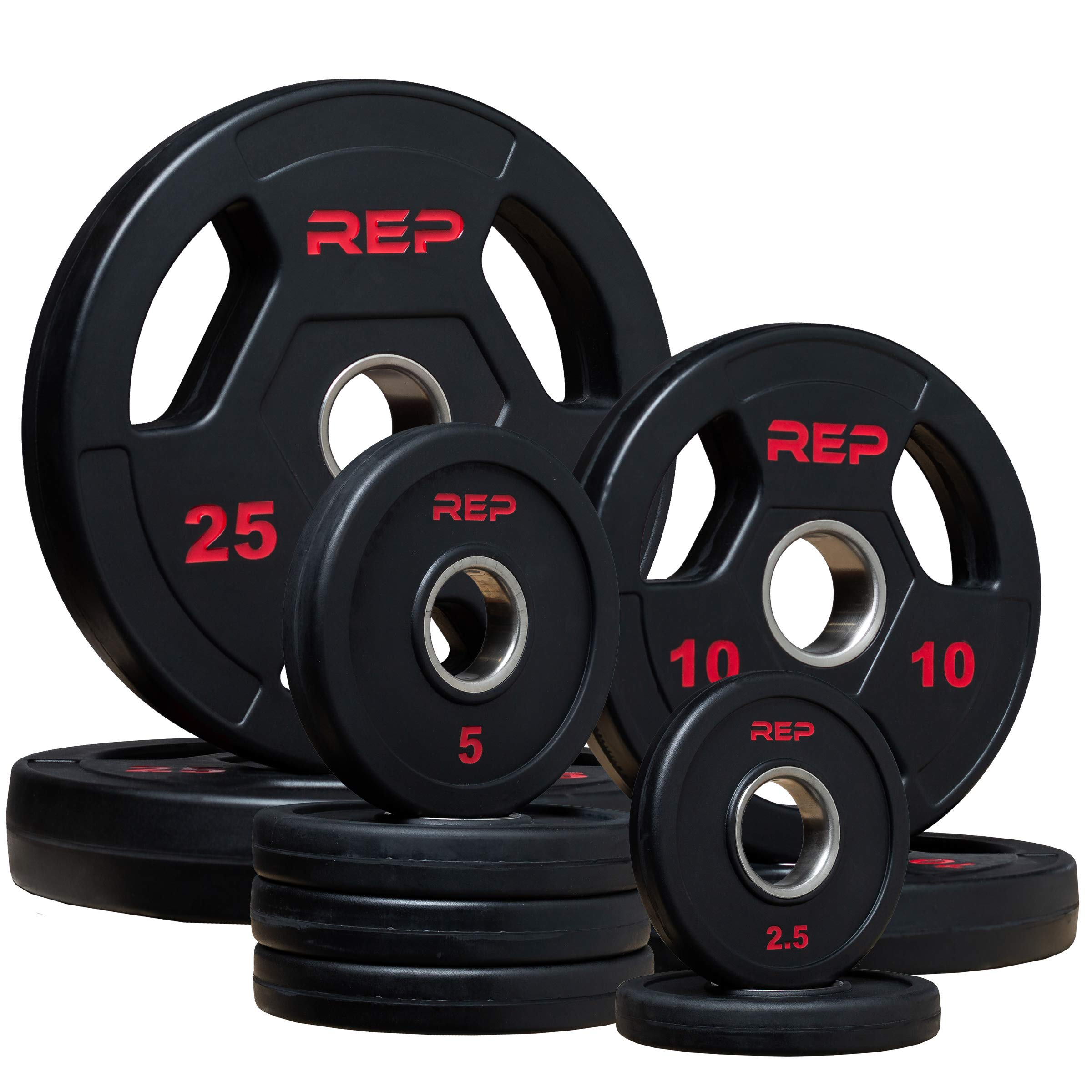 Rep Rubber Coated Olympic Plates - 95lb Set