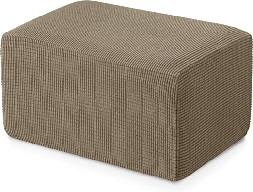 Subrtex Spandex Stretch Storage Oversized Ottoman Slipcover Footrest  Slipcovers