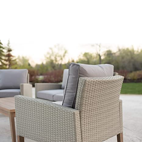 Amazon Com Overstock Rattan And Eucalyptus Outdoor Chair Set Of 2