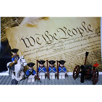 LEGO Revolutionary War era George Washington and The Continental Army Colonial Soldiers: Toys & Games