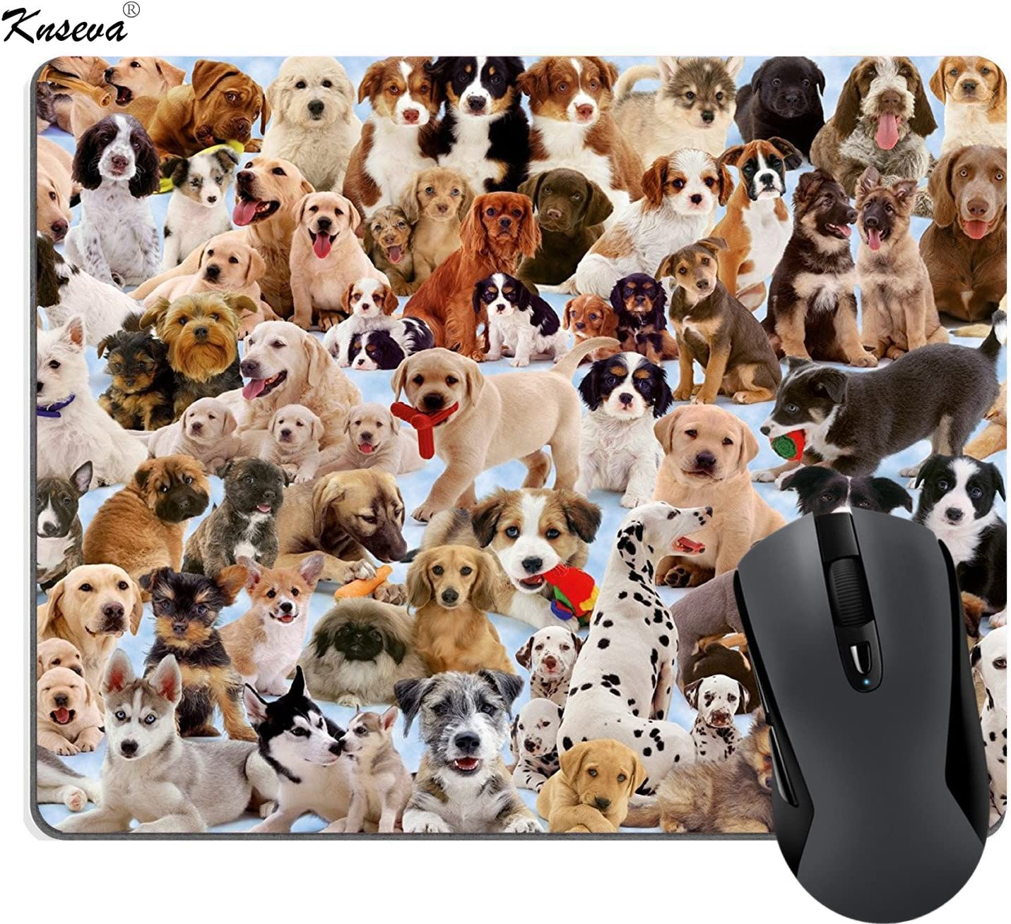 Dogs Galore Mouse Pad Custom Cute Pets Puppies Mouse Pads Large Funny Mat
