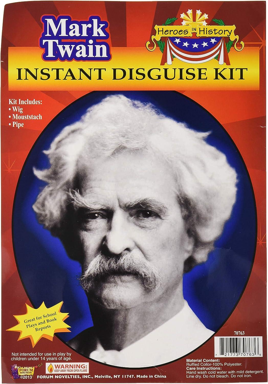Forum Novelties Men's Heroes In History Instant Disguise Kit Mark Twain