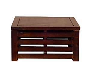 Altavista Jasmine Solid Wood Coffee Table (Brown)