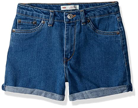 de34f09de4 Amazon.com: Levi's Girls' High Rise Denim Shorty Shorts: Clothing