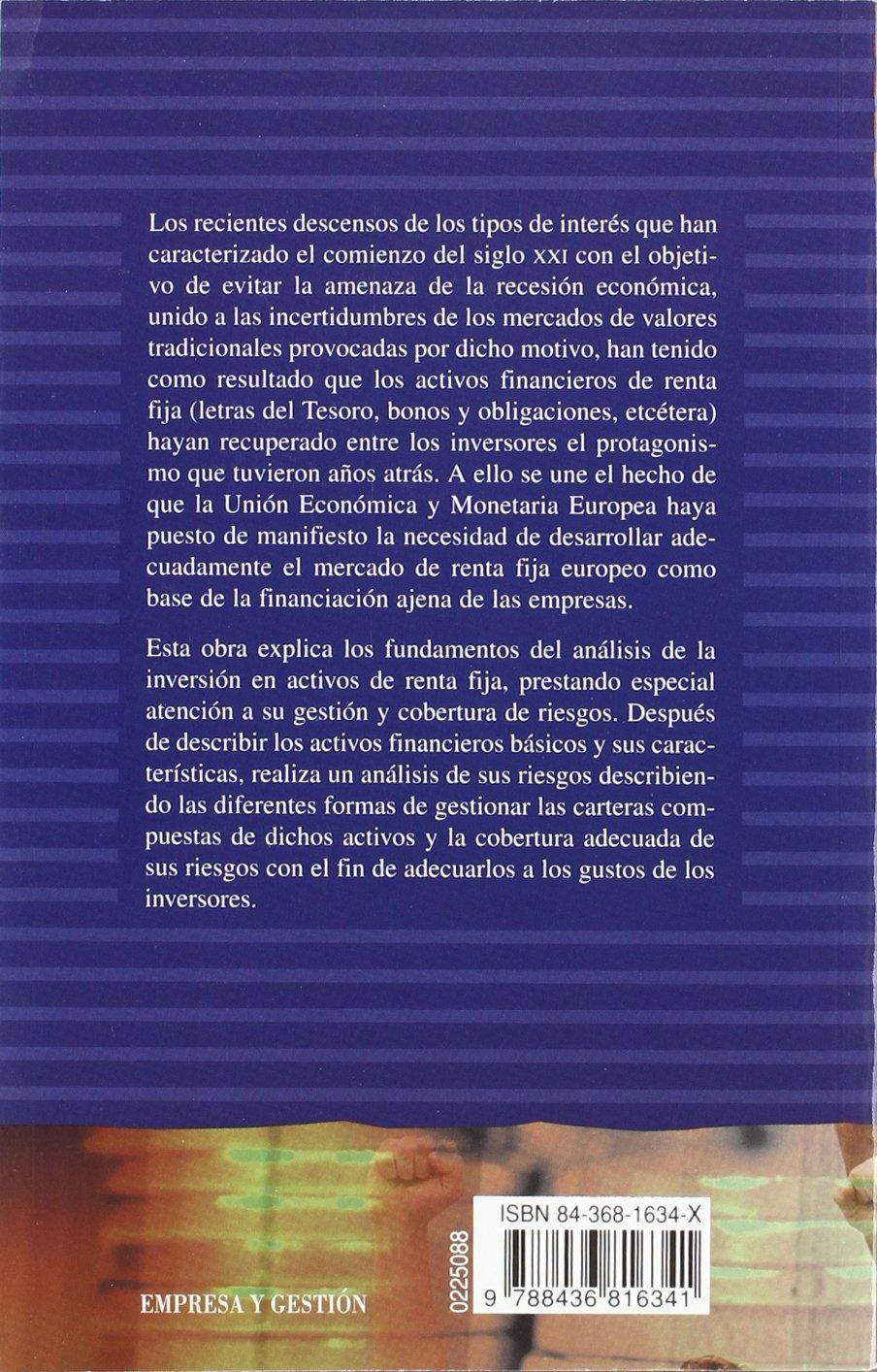 Gestión de activos financieros de renta fija Empresa Y Gestión: Amazon.es: Juan Mascareñas Pérez-Íñigo: Libros