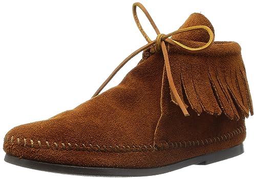 Minnetonka Classic Fringe 682, Botas Mocasin para Mujer, Marrón (Brownbrown), 41 EU: Amazon.es: Zapatos y complementos