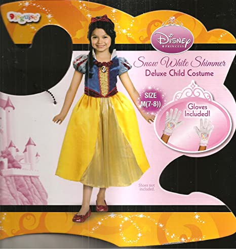 Amazon com: Disney Snow White Shimmer Deluxe Costume