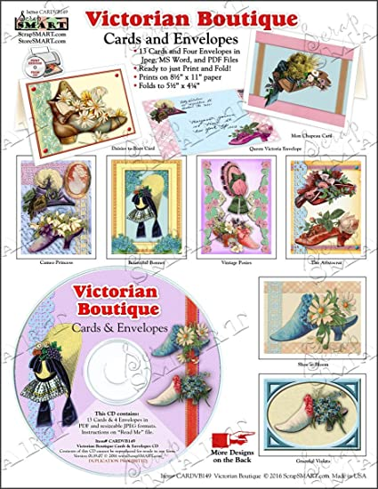 Amazon com: ScrapSMART - Victorian Boutique Cards & Envelopes