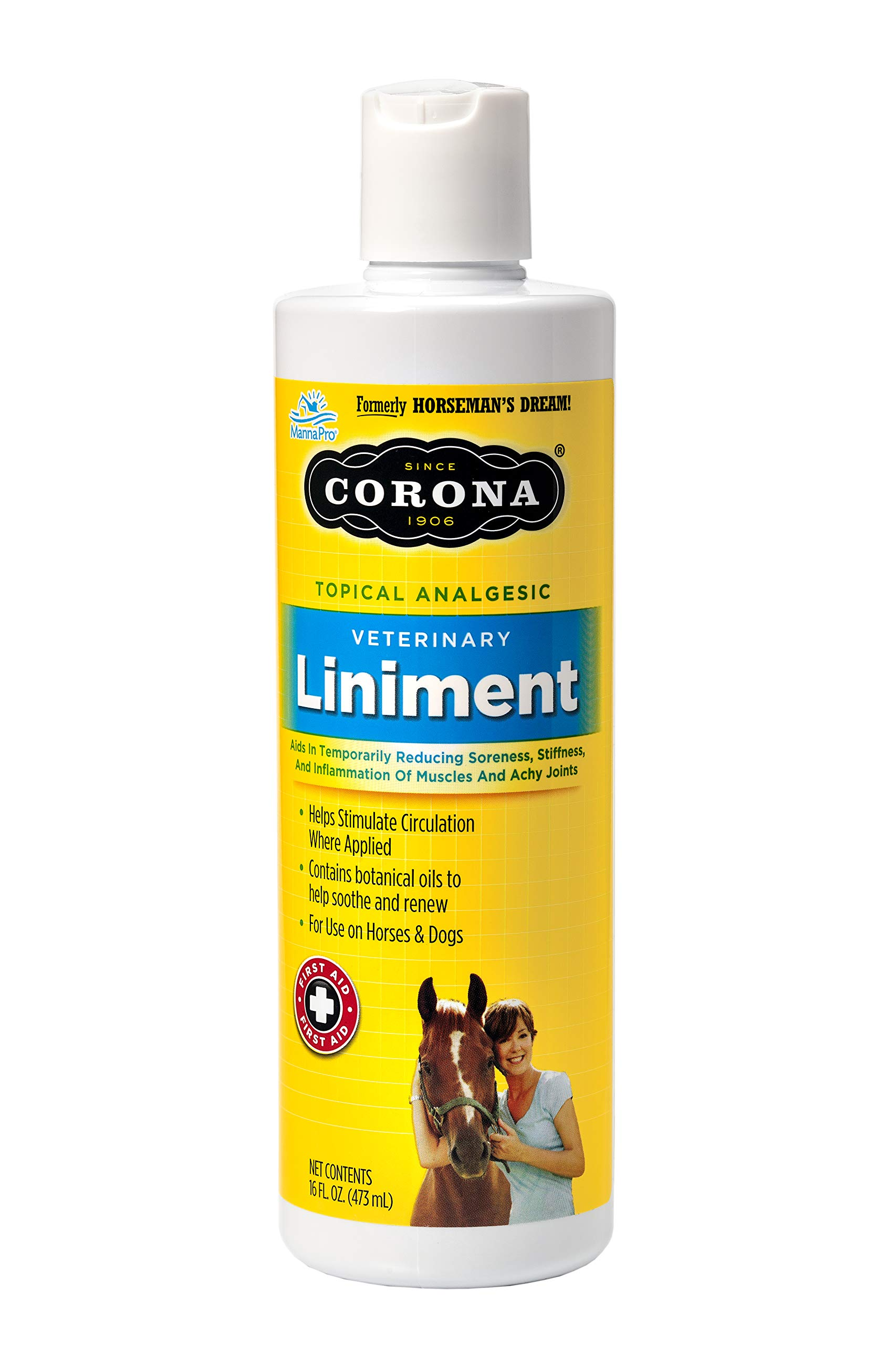 Manna Pro 1000193 62620 Corona Topical Analgesic Veterinary Liniment, 16 Ounces by Manna Pro