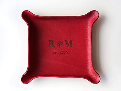 42bcb397c607 Image Unavailable. Image not available for. Color  3rd Personalized Leather  Tray ...
