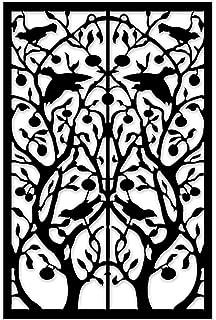 acurio lattice tree of life outdoor decor panel screen black 48 x 32 x - Decorative Metal Screen
