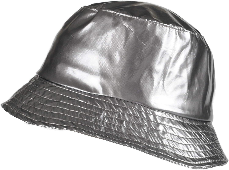 TOUTACOO, Waterproof Wax Style Bucket Rain Hat -Black at  Women's Clothing store