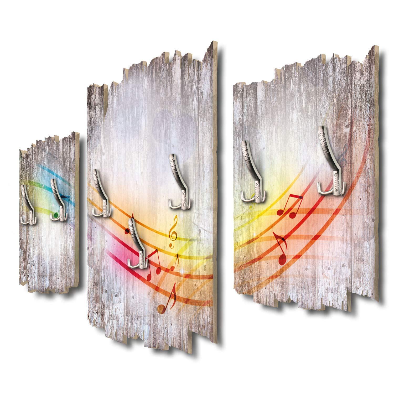 Kreative Feder Music in The Air Designer Wandgarderobe Flurgarderobe Wandpaneele 95 x 60 cm aus MDF DTGH135