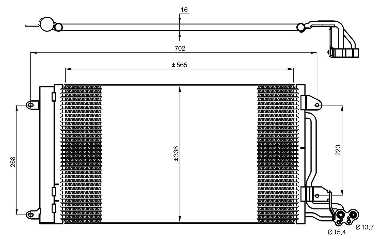 Klimaanlage NRF 35910-NRF 35910 Kondensator