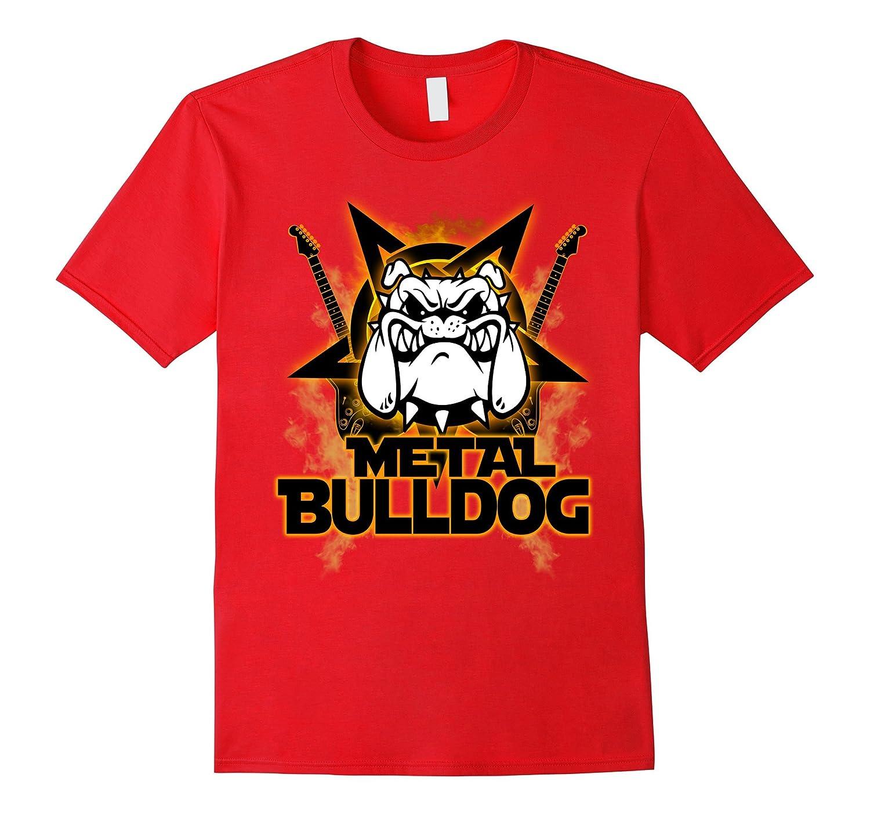Mental Bulldog T-shirt Rock And Roll Styles-Awarplus
