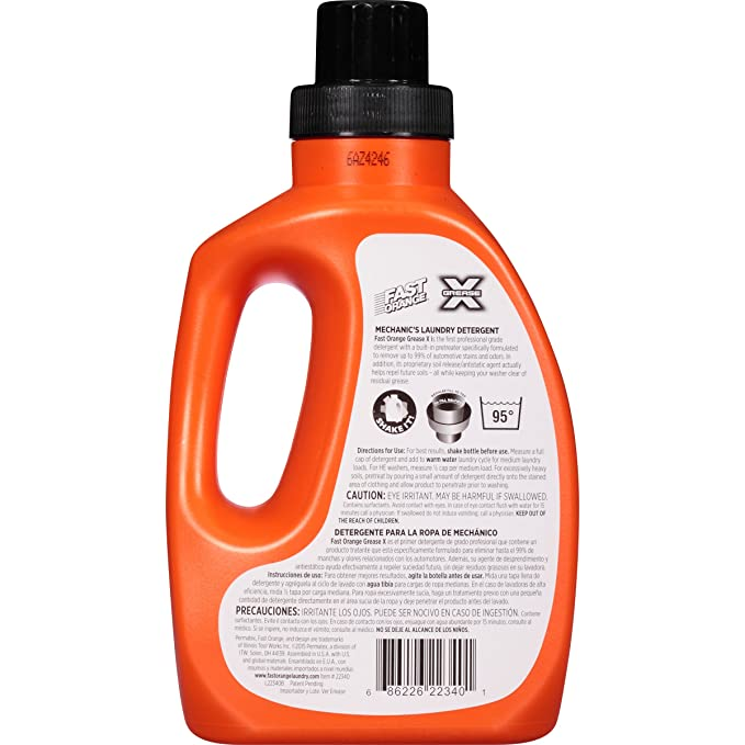 Amazon.com: Detergente para ropa Permatex 22340 Fast Orange ...