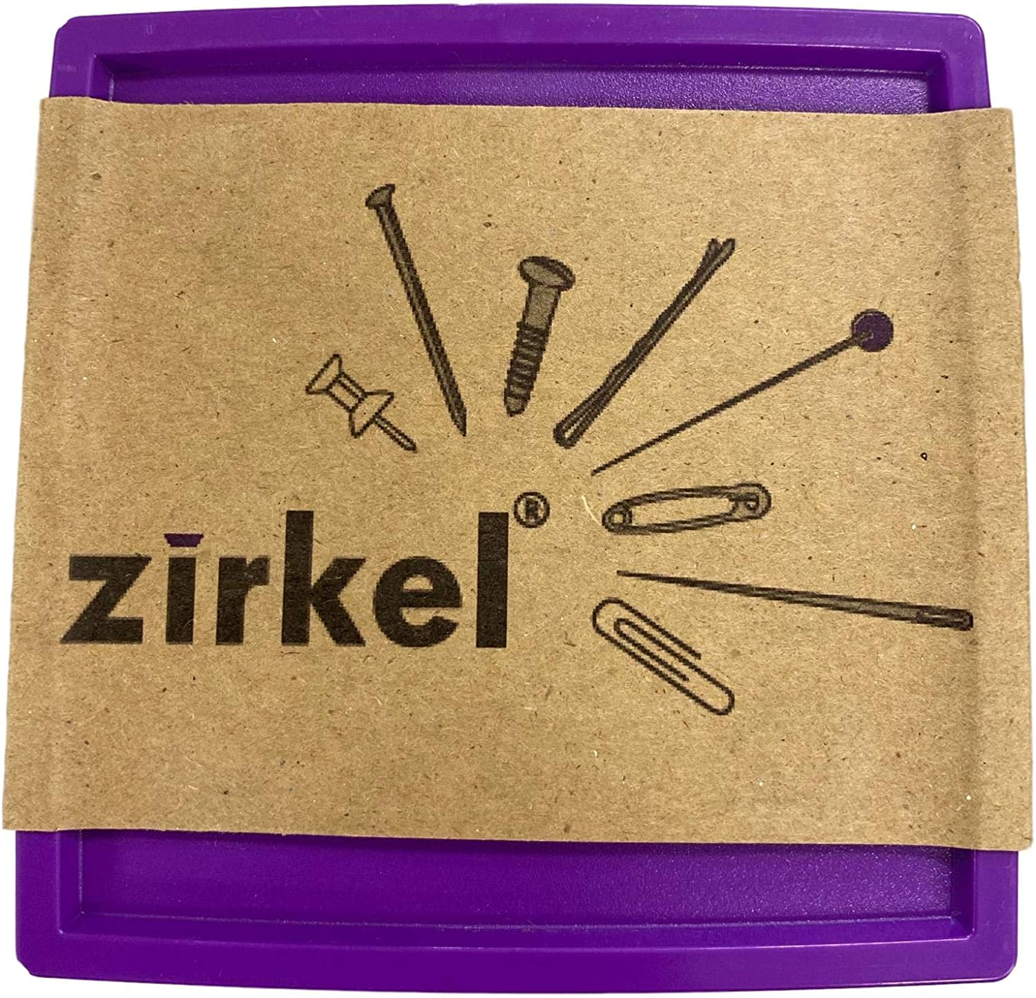 Bundle of 3 Items Purple Zirkel Magnetic Pin and Needle Holder Quilting Pins and Retractable Tape Measure
