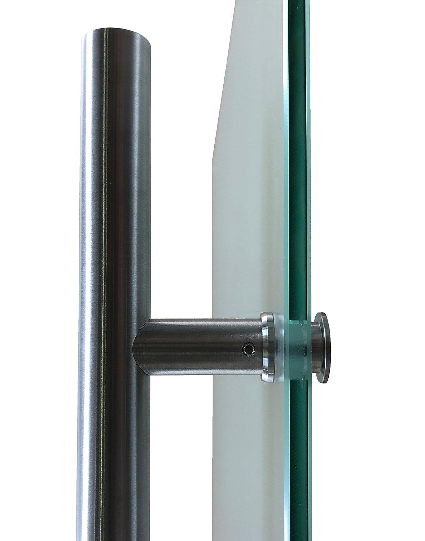 420mm Einseitig wandseitig flach M6-1025-2-420EGE-ASE Wandseitig flach 1025x2175, Soft-Close Selbsteinzug Slimline Alu-Schinensystem mit Griffstange zylindrisch