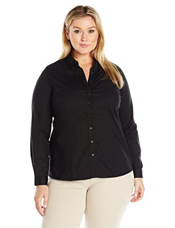 0b3ff2707c7 Dickies Girl Juniors  Plus-Size Long-Sleeve Shirt at Amazon Women s Clothing  store