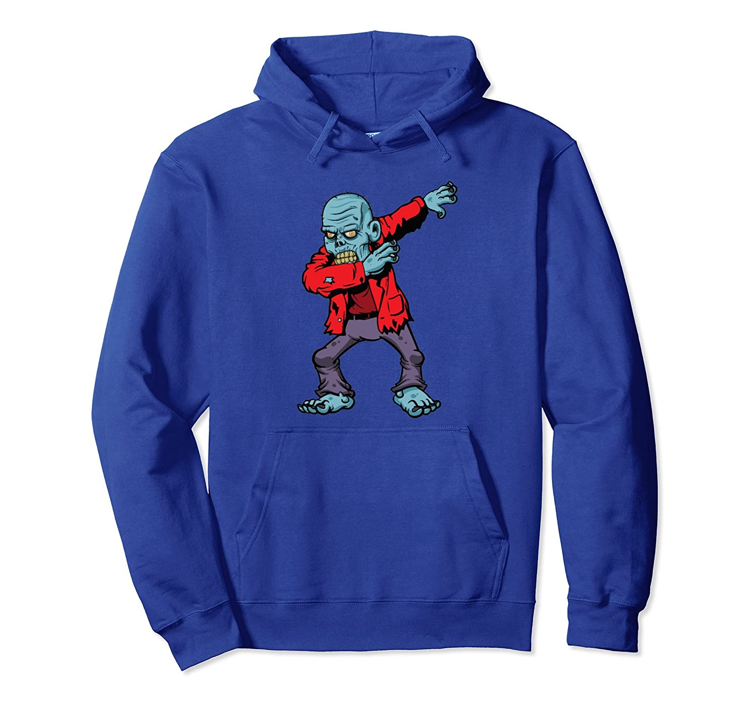 Zombie Dabbing Shirt Funny Halloween Costume Scary Dab Tee-mt