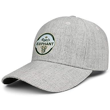 Carlsberg Elephant Beer Logo Men Womens Wool Hip Hop Cap Adjustable Snapback Sun Hat