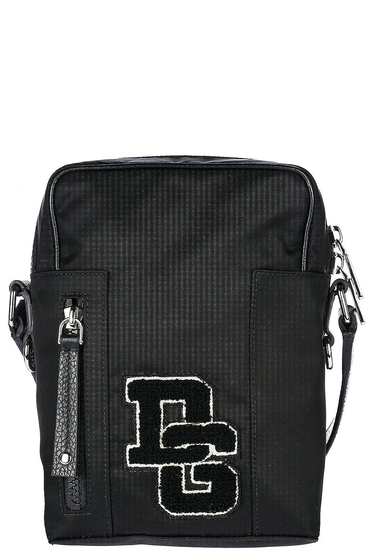 Dolce & Gabbana メンズ borsa uomo a tracolla borsello in nylon nuovo patc US サイズ: One Size カラー: ブラック   B079NRMC9F
