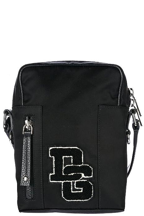 Dolce Gabbana borsa uomo a tracolla borsello in nylon patch logo nero a9f1d2ca2cb