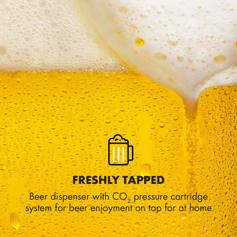 Klarstein Skal • dispensador de cerveza • enfriador de cerveza • para barriles de 5L • cartuchos de presión de CO² • incluye 3 cartuchos • pantalla LED ...
