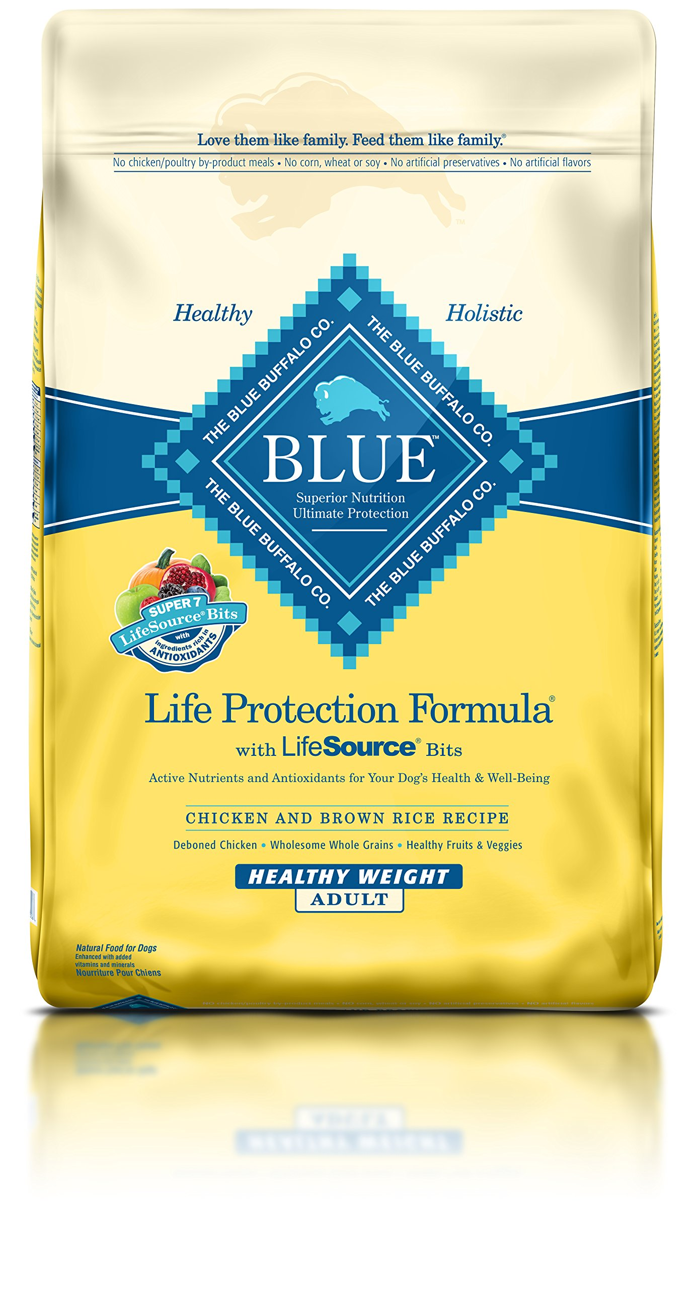 Blue Buffalo Life Protection Healthy Weight Chicken and Brown Rice Dry Adult Dog Food 30 lb