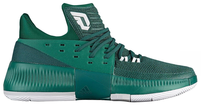 adidas Dame 3 Shoe Men's Basketball B07499PZN5 11.5 D(M) US Dark Green-white-grey