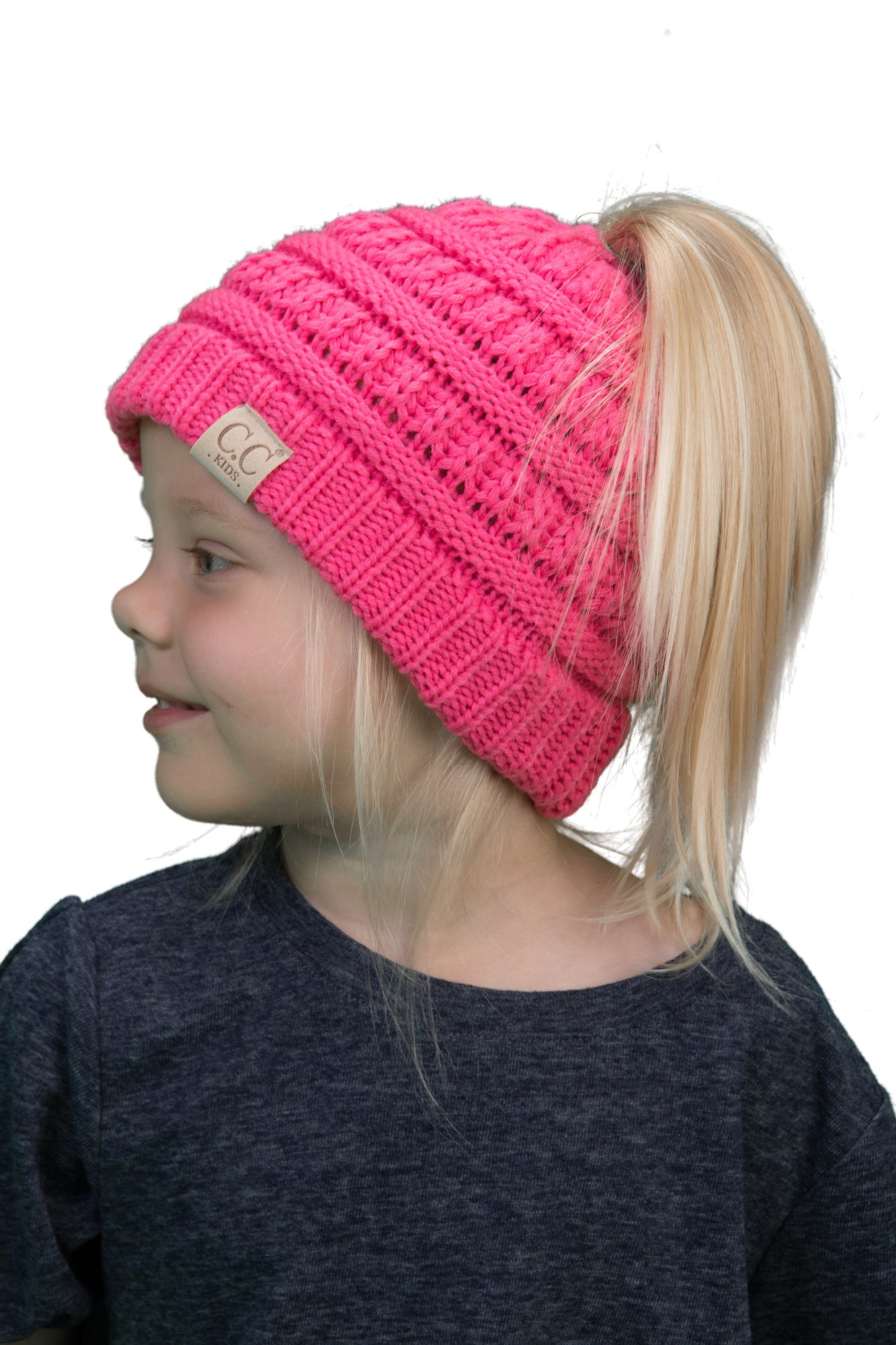 Knitting Pattern White Hat with Pink Fans for a Girl (12 months, 2-4 years)