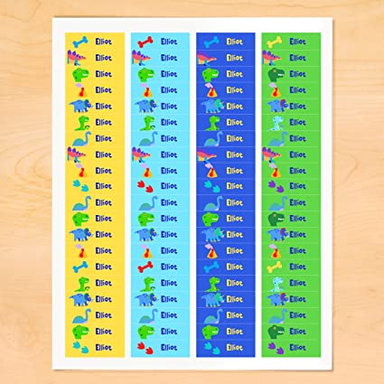 Dinosaur Personalized Mini Waterproof Labels By Olive Kids