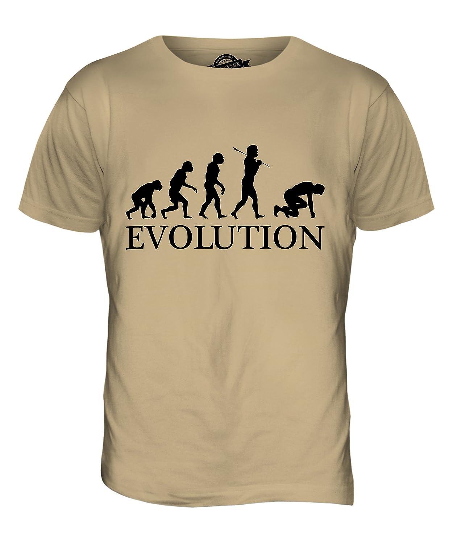 CandyMix Men's Sprint Runner Evolution Of Man T Shirt T-Shirt Top