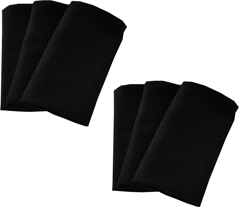 Mischke-24 12er Pack Textilservietten 45cm X 45cm 100/% Baumwolle ges/äumt in Anthrazit