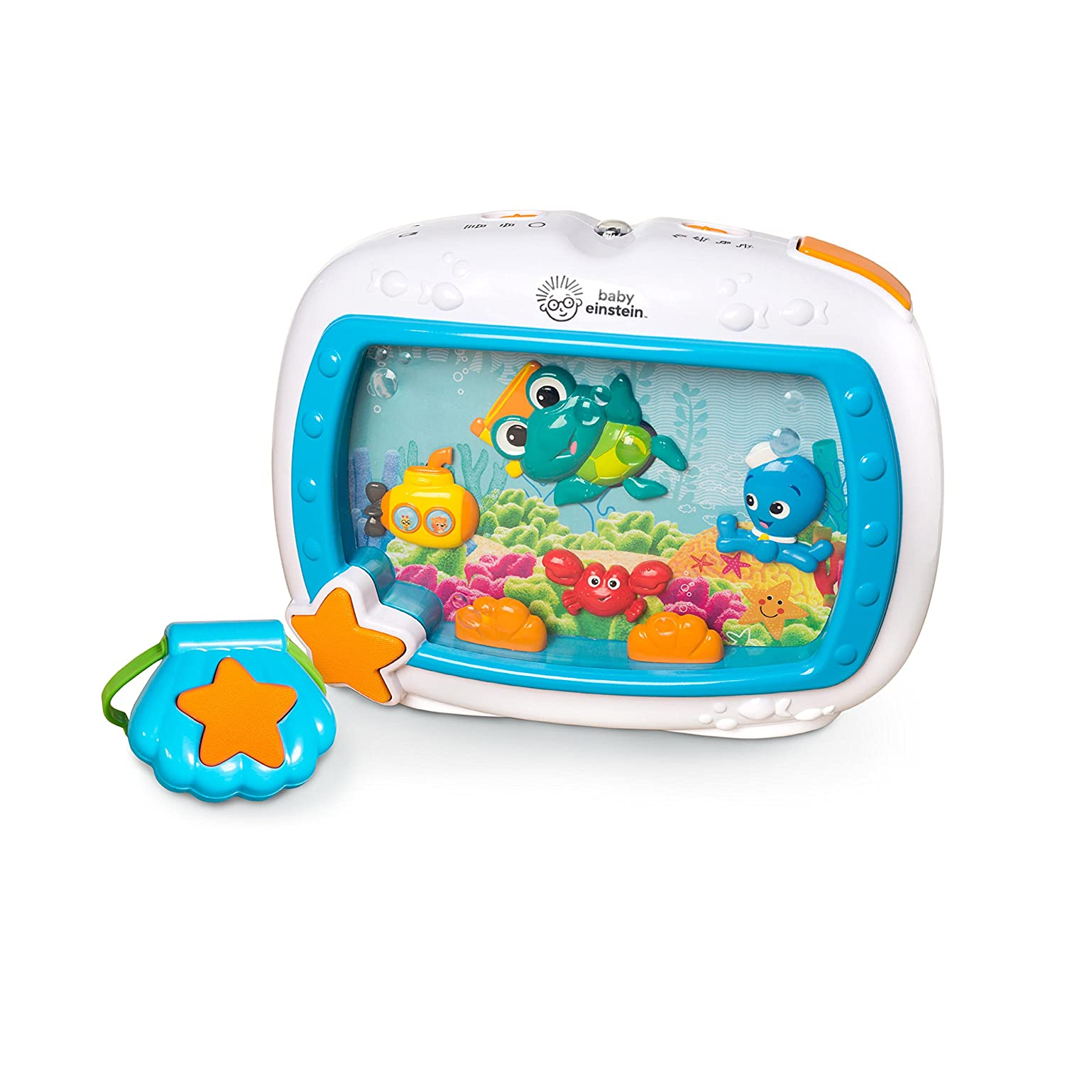 Baby Einstein Sea Dreams Soother Crib Toy with Remote, Lights and Melodies for Newborns and up Kids II - (Carson CA) 11058