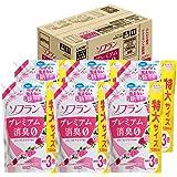 【ケース販売 大容量】ソフラン プレミアム消臭 柔軟剤 フローラルアロマの香り 詰め替え 1350ml×6個