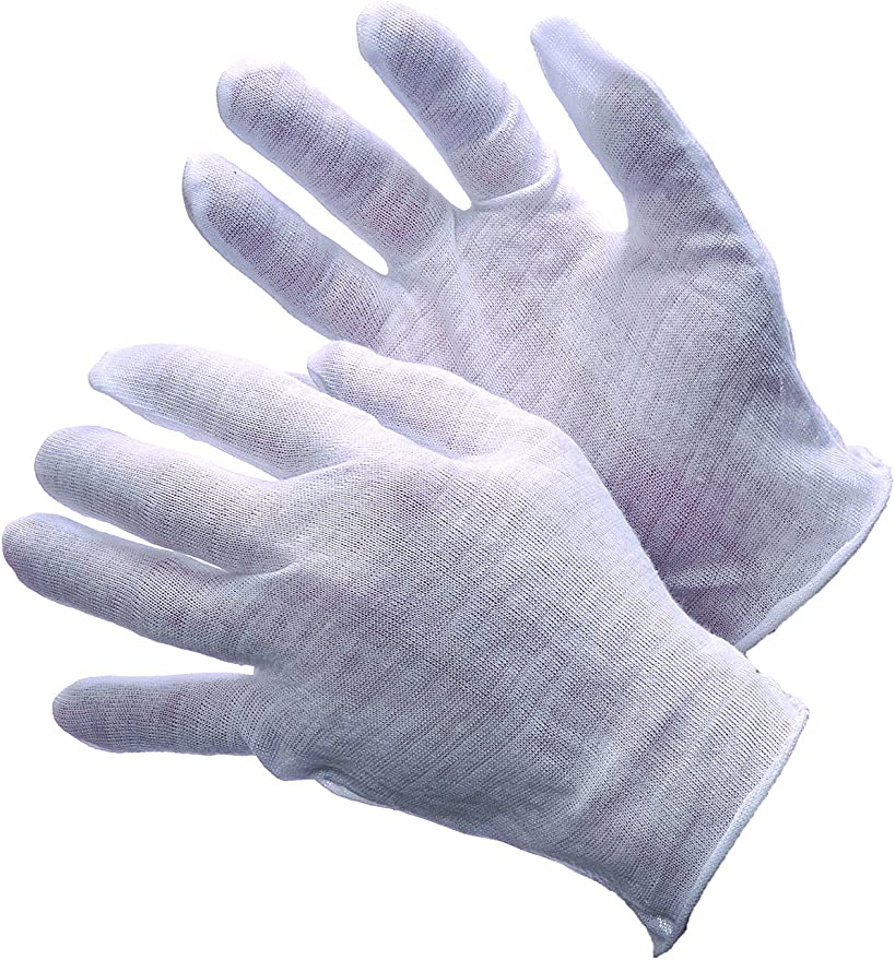 Lightweight 3 pair Large Cotton Glove for Handling Coins