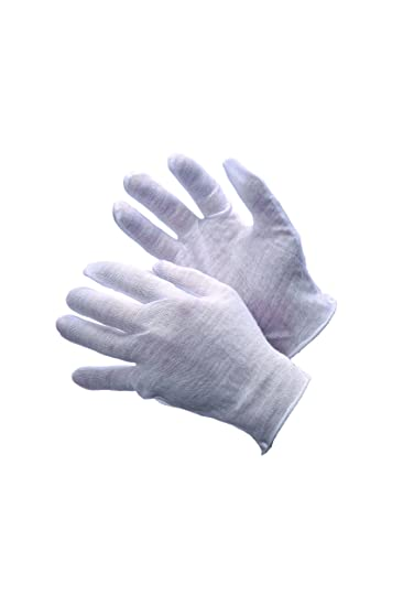 Provided White Inspection Cotton Lisle 12 Pair 1dz Work Gloves Coins Jewelry Lightweight Publications & Supplies
