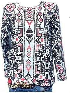 Damen Pullover Bluse Italy Moda Oversize Shirt Langarm Sommer Boho Blogger   13 5ea1a9dda9