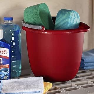product image for Sterilite 11205812 10 Quart/9.5 Liter Spout Pail, Classic Red, 12-Pack