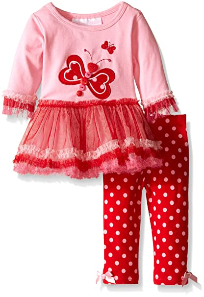 Amazon Bonnie Baby Baby Girls Butterfly Heart Applique Knit
