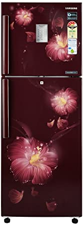 Samsung 253 L 4 Star Frost Free Double Door Refrigerator(RT28M3954R3/HL, Rose Mallow Plum, Convertible, Inverter Compressor)